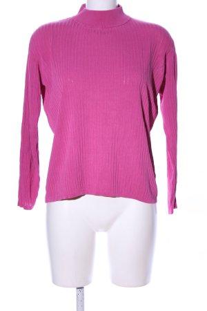 Walbusch Ribbed Shirt pink casual look