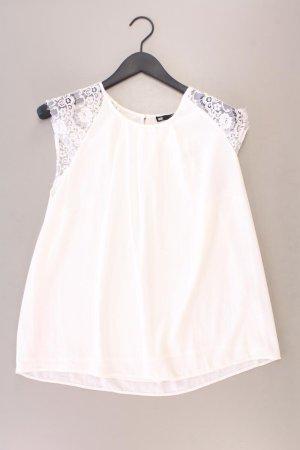 Walbusch Spitzenbluse Größe XL Kurzarm weiß aus Polyester