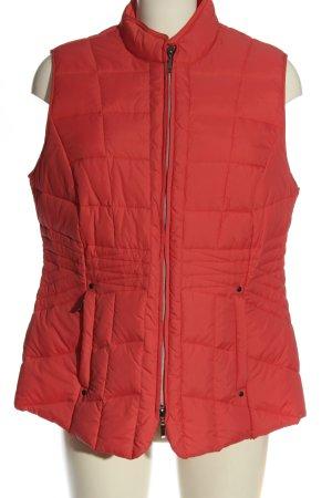 Walbusch Gilet matelassé rouge motif de courtepointe style décontracté