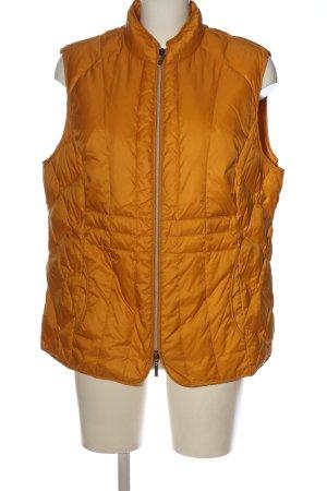 Walbusch Gilet matelassé orange clair motif de courtepointe style décontracté