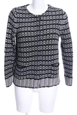 Walbusch Strick Cardigan schwarz-weiß Casual-Look