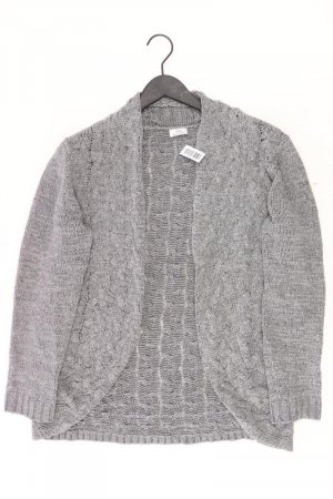 Walbusch Strickjacke Größe 44 Langarm grau aus Polyester