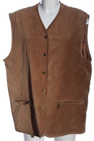 Walbusch Gilet matelassé brun motif de courtepointe style décontracté