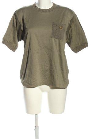 Walbusch T-Shirt khaki Casual-Look