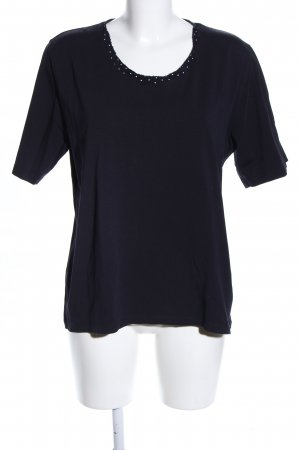Walbusch T-Shirt schwarz Casual-Look