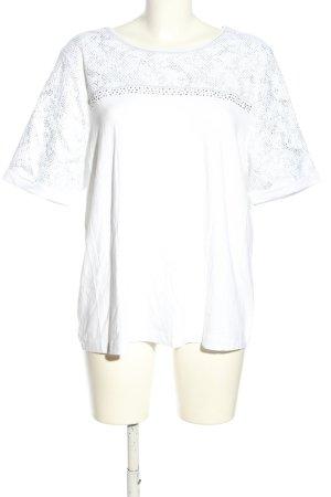 Walbusch T-Shirt weiß Mustermix Casual-Look
