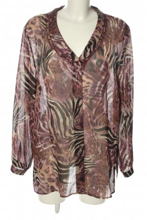 Walbusch Transparent Blouse animal pattern casual look