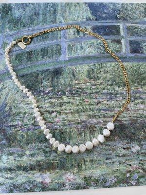 WALD Berlin Collana di perle oro-bianco