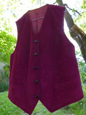 Denim Vest dark red cotton