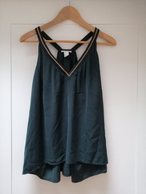 H&M A Line Top gold-colored-forest green