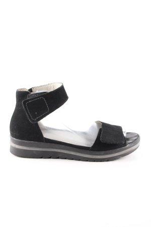 Waldläufer Comfortabele sandalen zwart casual uitstraling