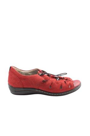 Waldläufer Komfort-Sandalen rot Casual-Look