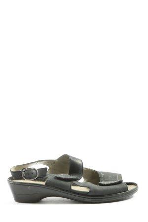 Waldläufer Komfort-Sandalen khaki Casual-Look