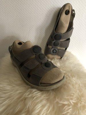Waldläufer Comfortabele sandalen zilver Leer