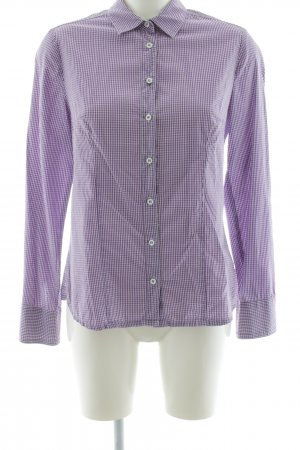 waldorff Trachtenhemd lila-weiß Allover-Druck Casual-Look