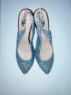 Zapatos de cuña negro-gris