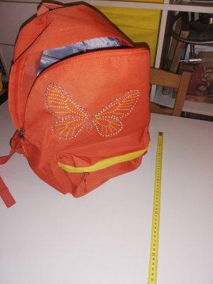 Walker Rucksack orange mit Schmetterling