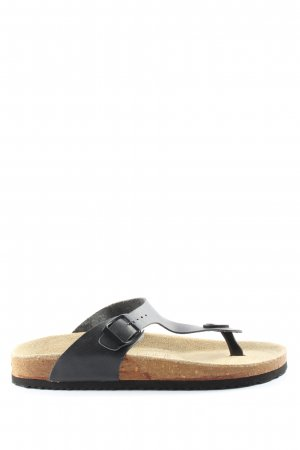 Walkx Women Sandalias Dianette negro-color oro look casual
