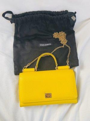 Dolce & Gabbana Minitasje geel Leer
