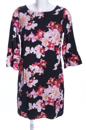 Wallis Blouse Dress black-pink allover print casual look