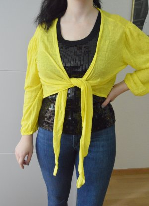 Wallis T-shirt col en V jaune