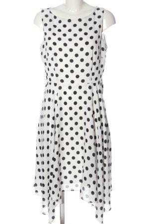 Wallis Cocktail Dress white-black spot pattern casual look