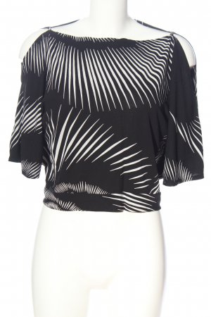 Wallis Cropped Top black-white abstract pattern casual look