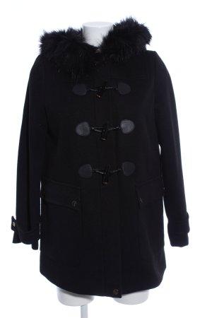 Wallis Duffle-coat noir style décontracté