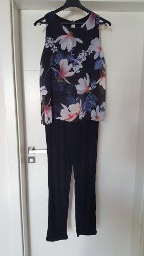 "Wallis Jumpsuit "" schwarz/ Blumenmotiv "" Gr. 36 "" NEU """""""