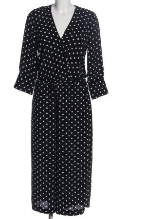 Wallis Jumpsuit schwarz-weiß Punktemuster Casual-Look