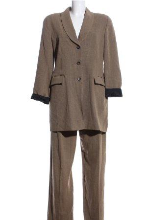 Wallis Kostüm braun Webmuster Business-Look