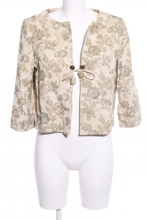 Wallis Short Blazer cream-brown allover print casual look