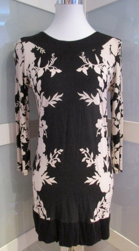 Wallis Camisa larga beige claro-negro Viscosa