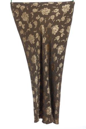 Wallis Maxirock braun-bronzefarben Blumenmuster Casual-Look