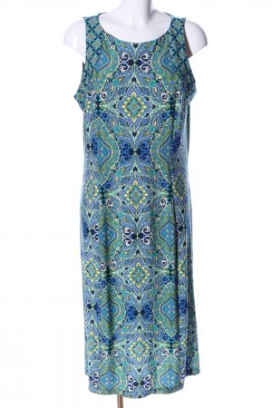 Wallis Midikleid blau-grün Allover-Druck Casual-Look