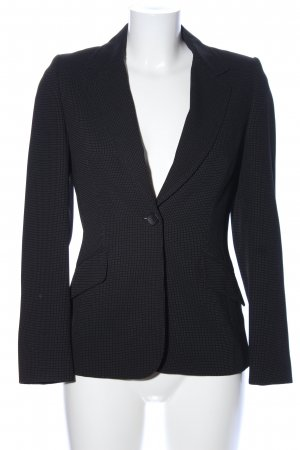 Wallis petite Long-Blazer schwarz Allover-Druck Business-Look