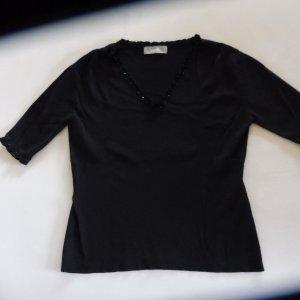 Wallis Short Sleeve Sweater black viscose