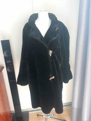 Wallis Giacca in eco pelliccia marrone scuro-marrone-nero Pelliccia ecologica