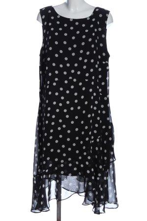 Wallis Trägerkleid schwarz-weiß Punktemuster Casual-Look