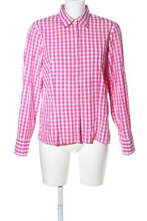 Wallmann Langarmhemd pink-weiß Karomuster Business-Look