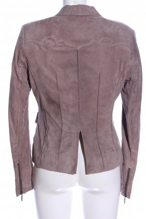 Walter Leder Leather Blazer lilac casual look