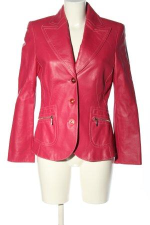 Walter Leder Blazer en cuir rose style décontracté