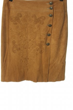 Walter Falda de cuero marrón look casual