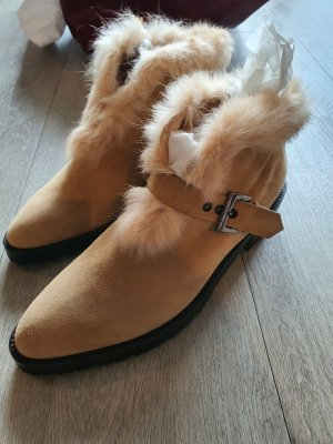 Walter Steiger Winter Booties beige-cream leather