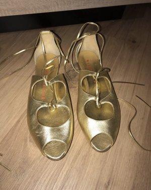 Walter Steiger Ballerinas Schuhe 41 gold Ballerinas Flats Sandalen