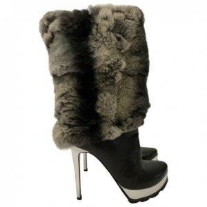 Walter Steiger boots Chinchilla fur