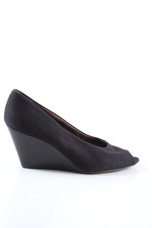 Walter Steiger Zapatos de cuña negro look casual