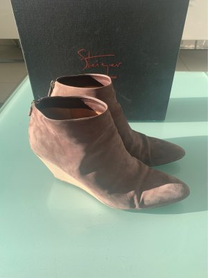 Walter Steiger Bottine à talon compensé or rose cuir