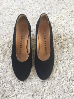 Walter Steiger Made in Italy Elegante schwarze Pumps Gr 36,5