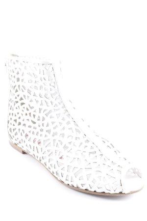 Walter Steiger Peep Toe Booties white casual look